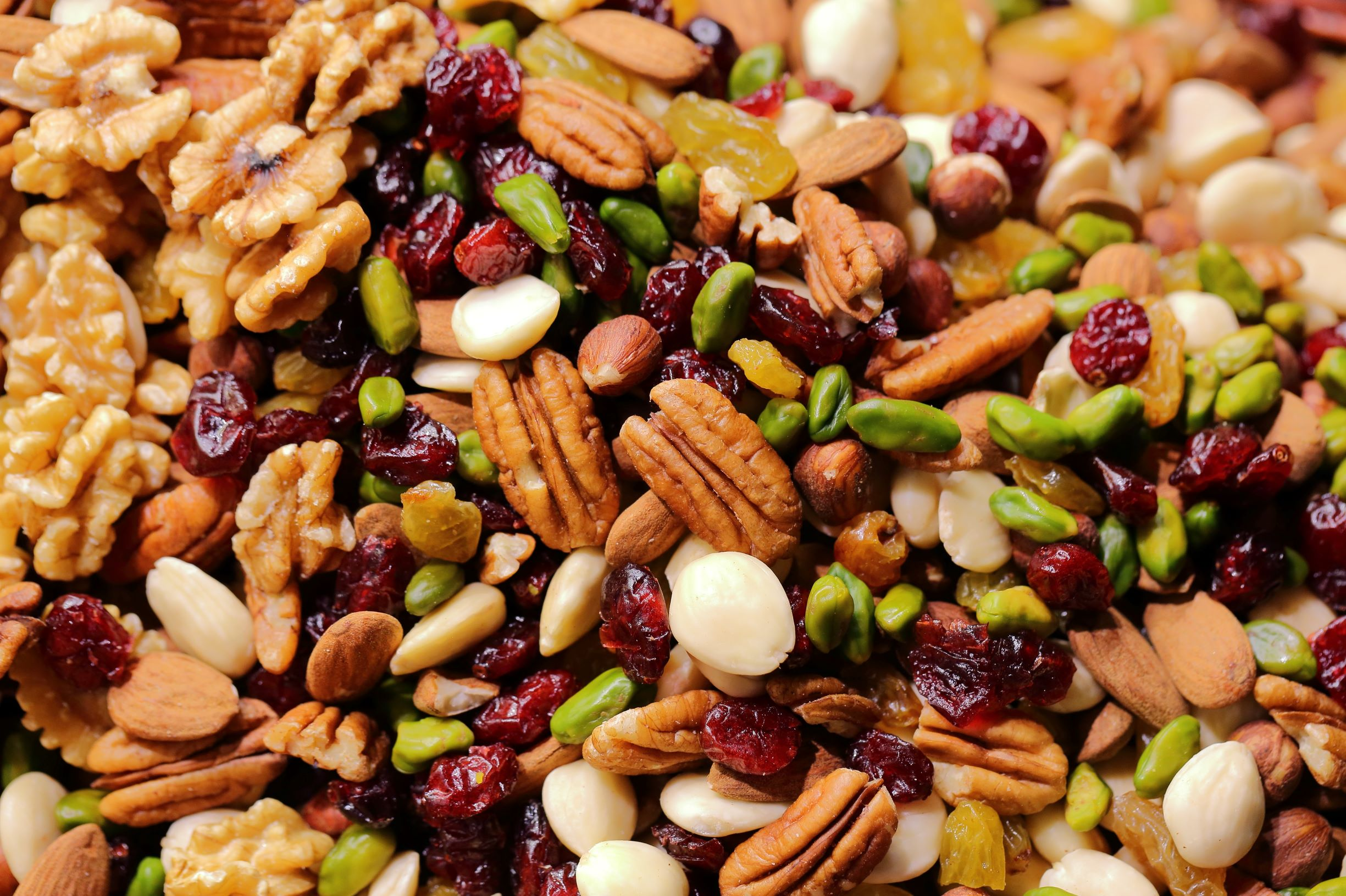homemade snack mix with nuts