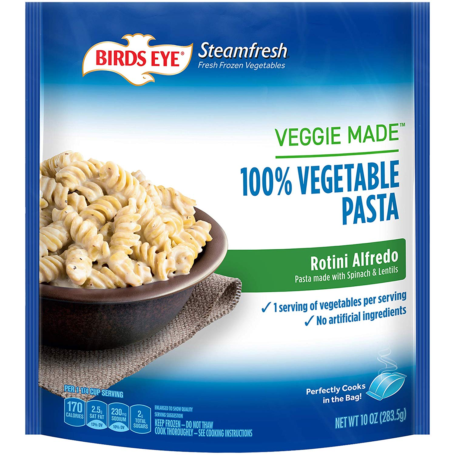 birds eye alfredo rotini vegetable pasta