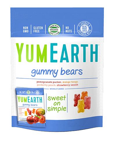 yumearth organic, natural, gummy bears